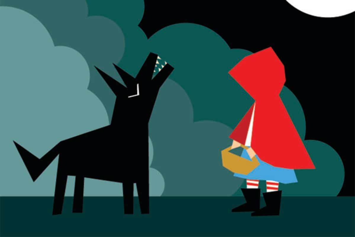 قصة ذات الرداء الأحمر للاطفال