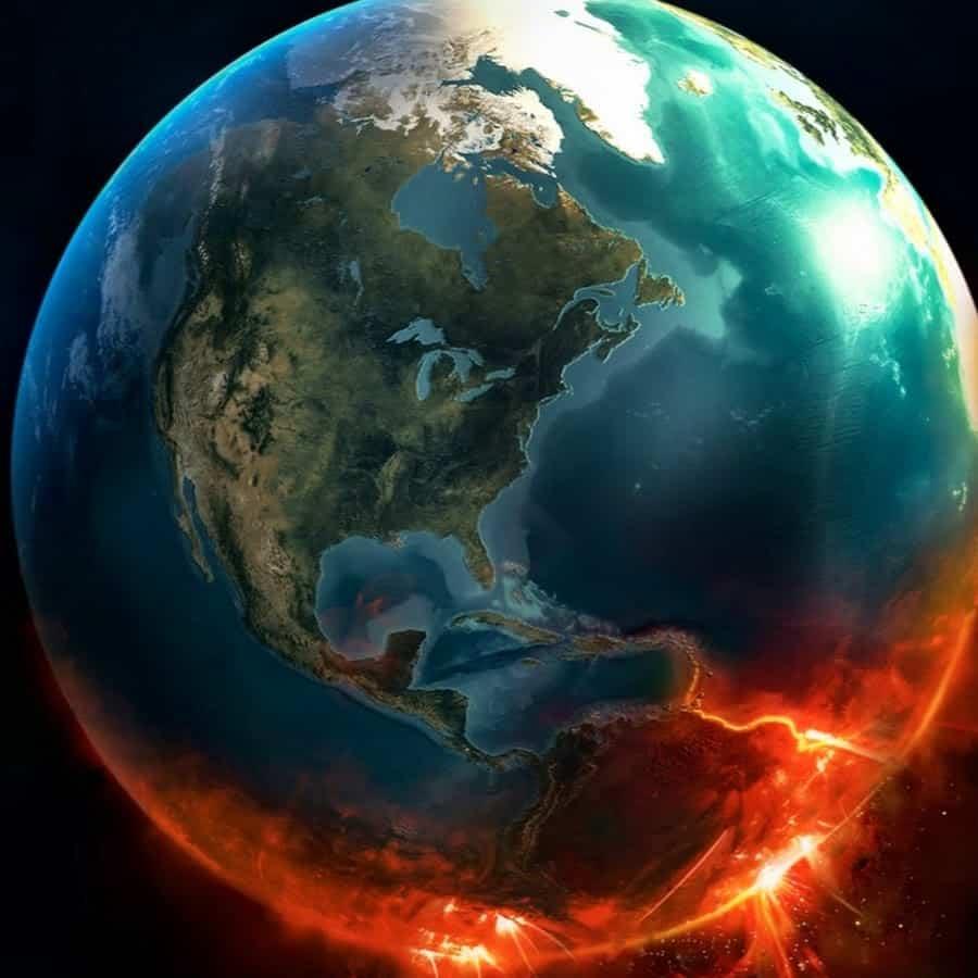 قطع الصخور التي تدخل الغلاف الجوي للأرضt