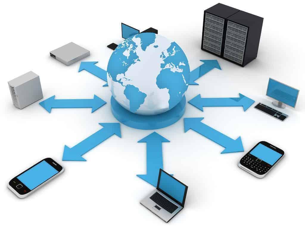 الشبكة التي تربط بين الحاسب المكتبي والجوال